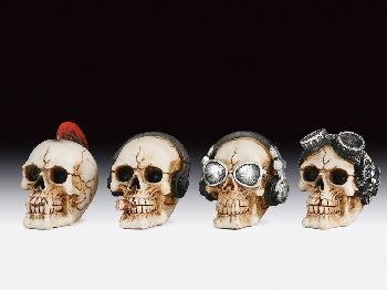 12 ASSORTED MINIATURES - SKULLS