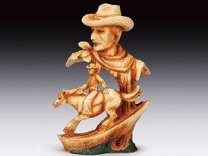 WOOD LIKE COWBOY HEAD