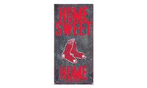RED SOX HOME SWEET HOME WOODEN SIGN