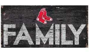 RED SOX FAMILY WOODEN SIGN