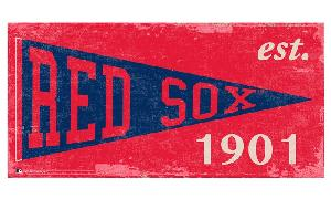 RED SOX PENNANT WOODEN SIGN