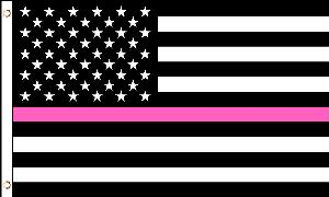 3X5 FLAG - USA - THIN PINK LINE